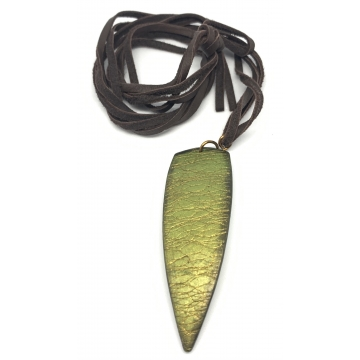 Green & Gold Dagger Necklace