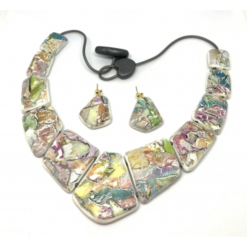 Watercolor Necklace/Earring Set