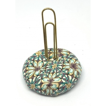 Teal, Purple & Gold Paperweight